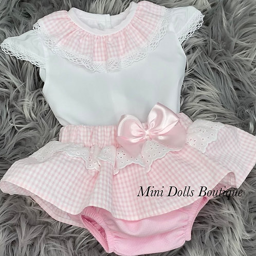 Pink Gingham 2 Piece