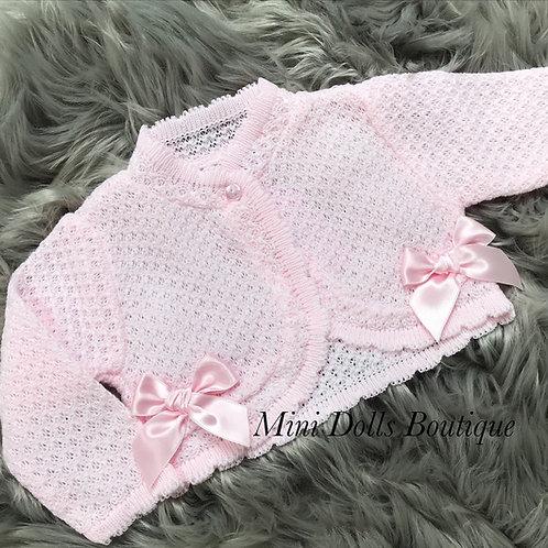 Pink Honeycomb Bolero