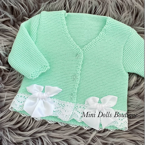 Mint Double Bow Cardigan