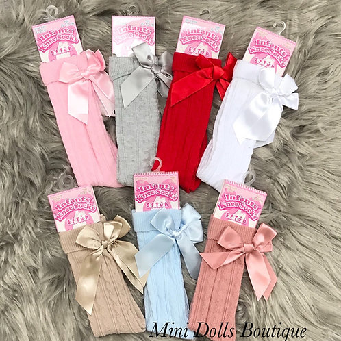 Knee High Bow Socks