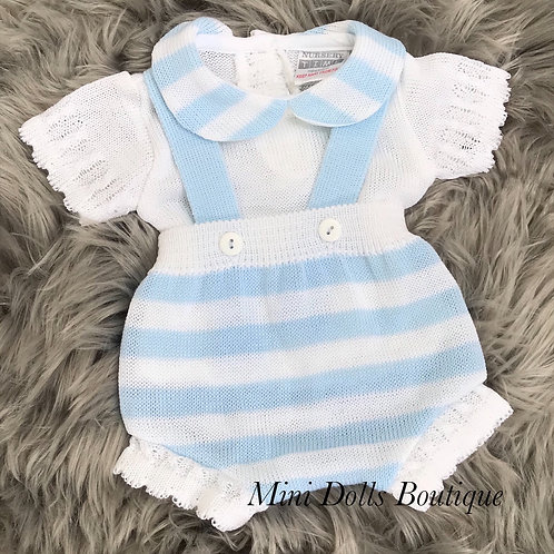 Knitted Dungaree Set