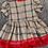 Thumbnail: Beige Tartan Bow Dress