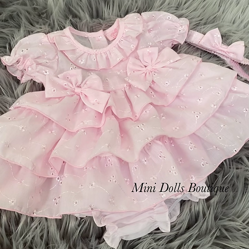 Pink Tiered Dress Set