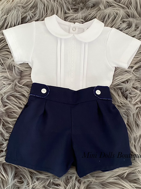 Navy Shorts Set