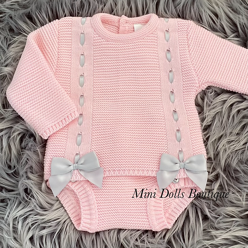Pink Double Bow Set