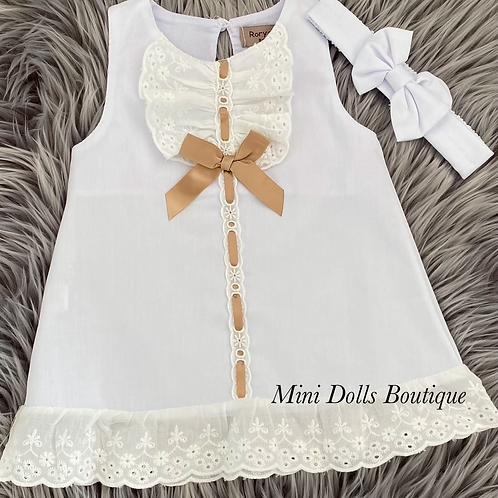 White Lace Dress Set