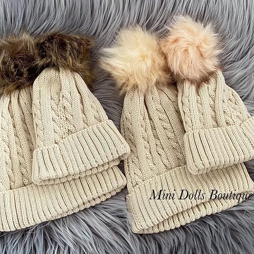 Mummy & Baby Pom Pom Hats