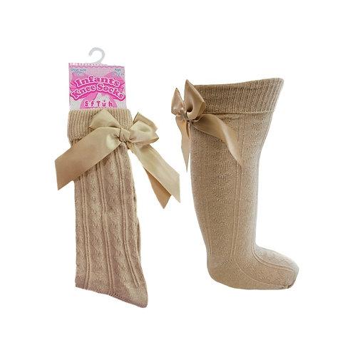 Beige Knee High Socks 2-6yrs
