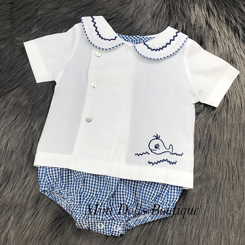 Whale Shirt & Romper Set