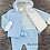 Thumbnail: Blue Knitted Jacket & Romper Set