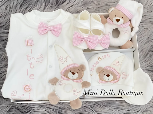 Pink Teddy Gift Set