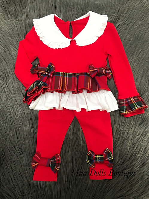 Red Bow 2 Piece Set