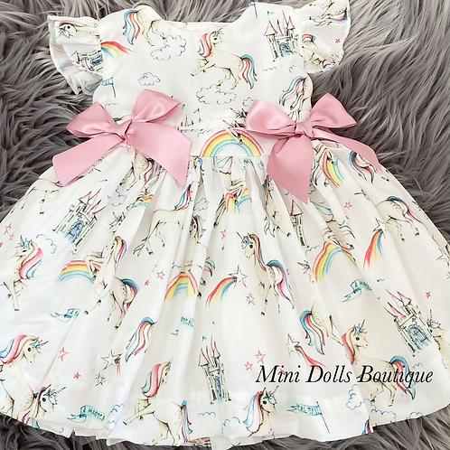 Unicorn Puffball Dress Set