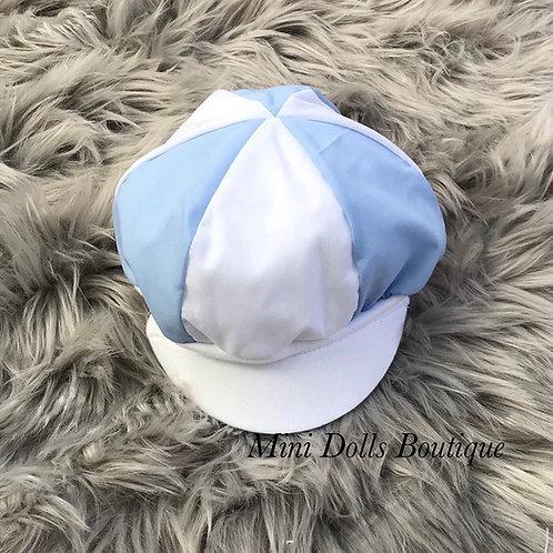 Blue & White Baker Cap