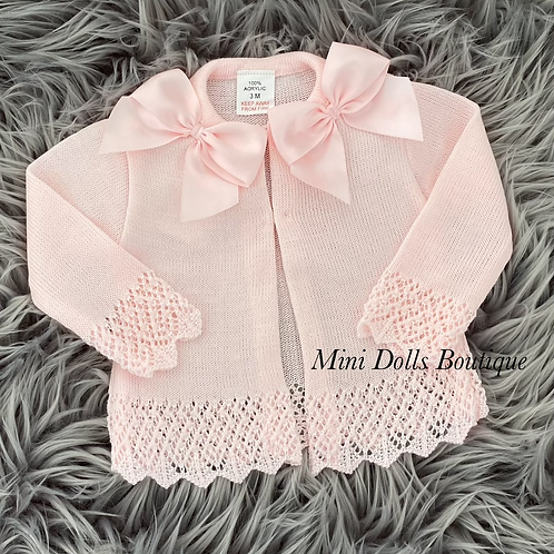Pink Bow Cardigan