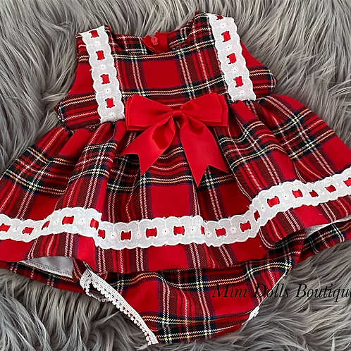 Red Tartan Dress Set