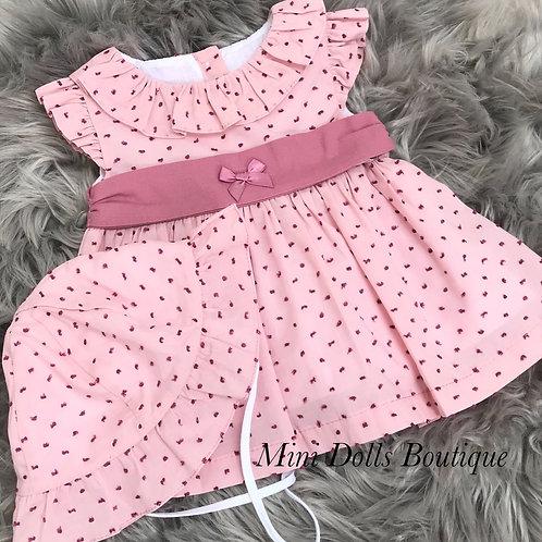 Dusky Pink Dress & Hat Set