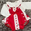 Thumbnail: Red Frilly Romper & Blouse Set
