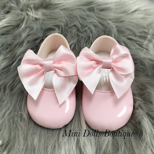 Pink Soft Sole Bow Baypods