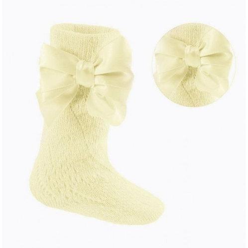 Lemon Pelerine Bow Socks