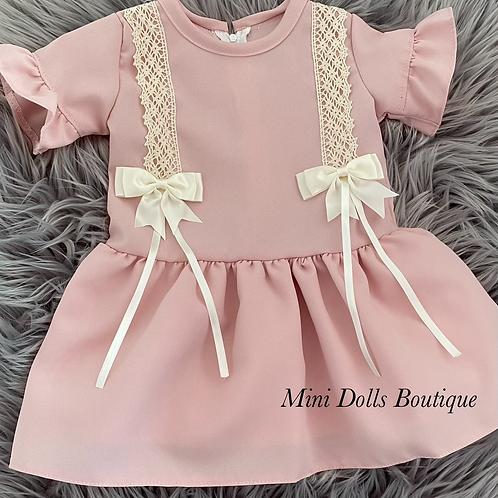 Dusky Pink Dropwaist Dress