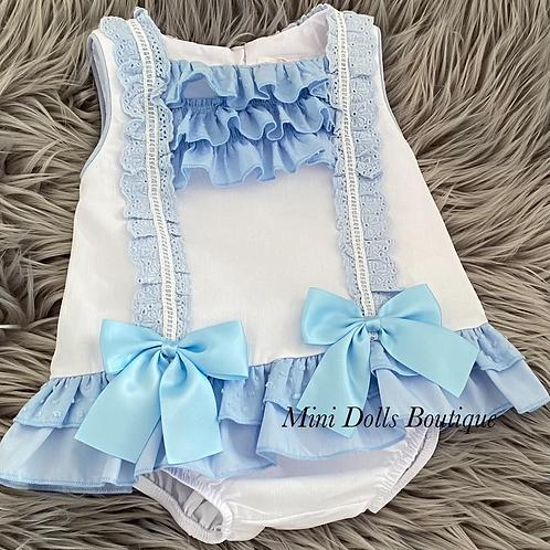 Blue Bow Lace 2 Piece