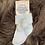 Thumbnail: Blue Ankle Pom Pom Socks