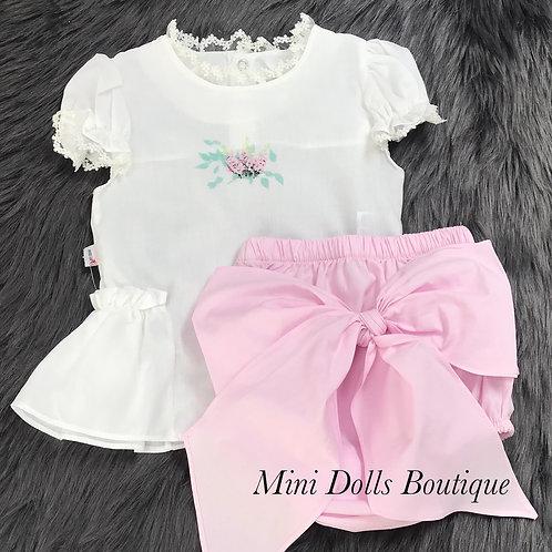 Evita White & Pink Set