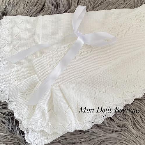 White Bow Blanket