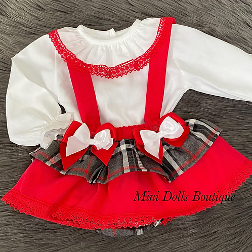Red & White Bow 2 Piece