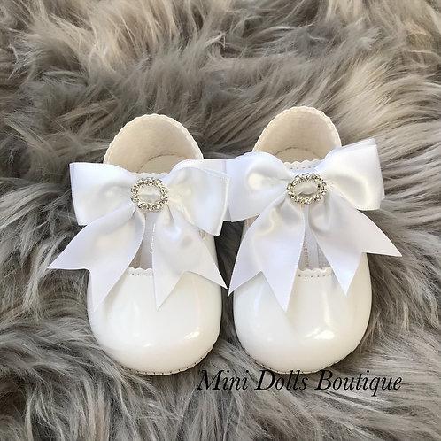 White Soft Sole Diamante Baypods
