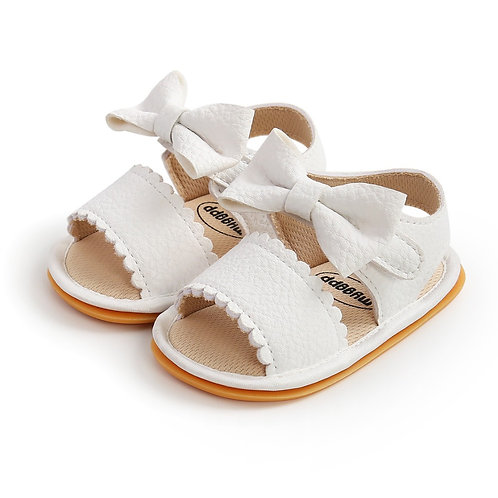 White Bow Soft Sole Sandals
