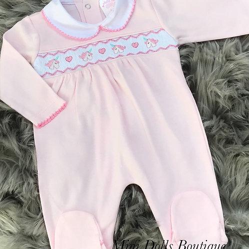 Pink Unicorn Babygrow