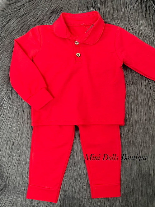 Red Polo Tracksuit