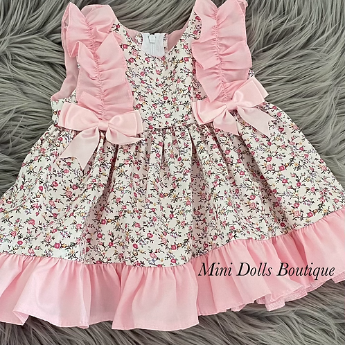Floral Pink Bow Dress