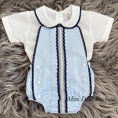 Baby Blue Romper Set
