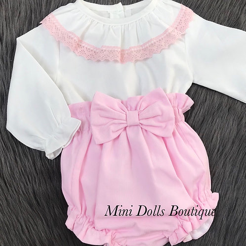 Pink Cord 2 Piece