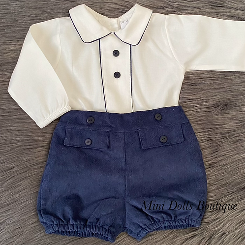 Navy Blue 2 Piece Set