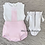 Thumbnail: Pink & White Frill Collar 2 Piece