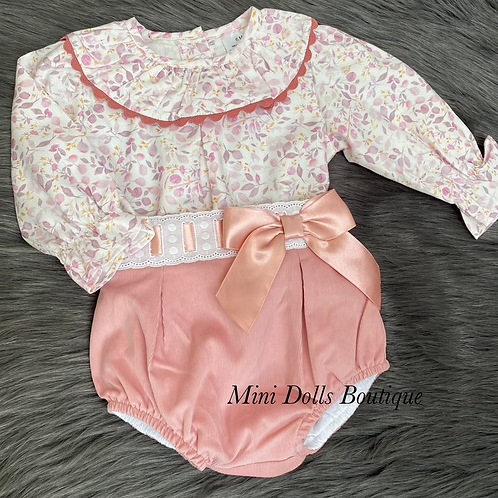Rose Gold Floral 2 Piece