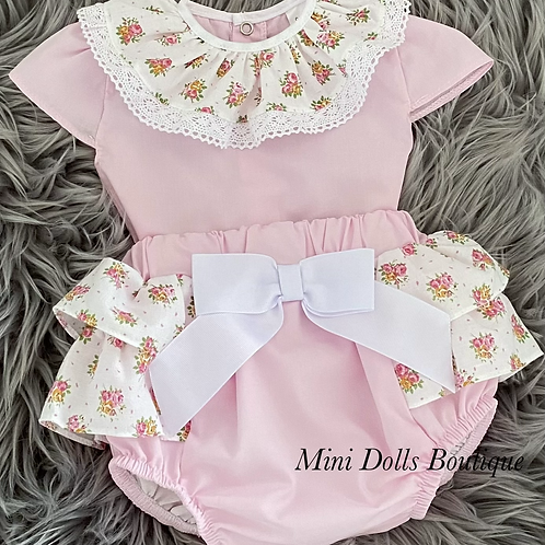 Pink & White Floral 2 Piece