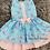 Thumbnail: Blue Floral Dropwaist Dress