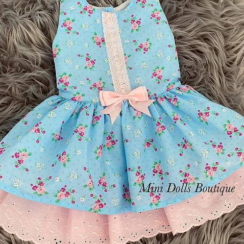 Blue Floral Dropwaist Dress