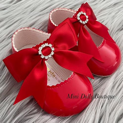 Red Soft Sole Diamante Baypods
