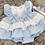 Thumbnail: Blue & White Tiered Dress Set
