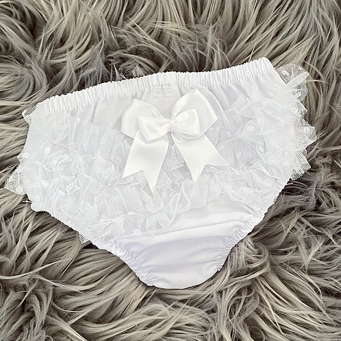White Frilly Pants