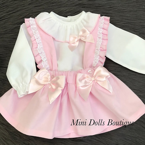 Pink Cord Dress & Blouse Set