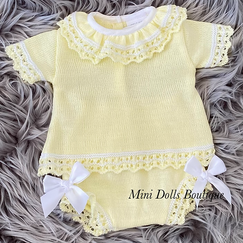 Lemon Knitted 2 Piece
