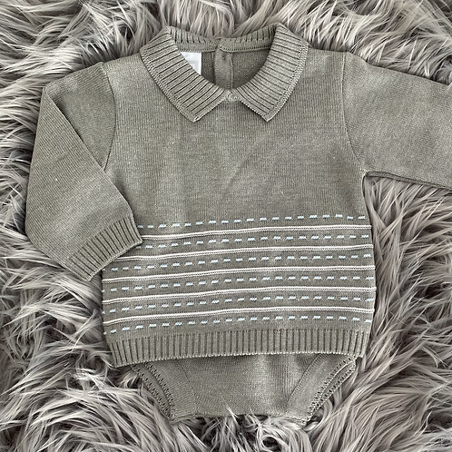 Grey Knitted 2 Piece 3m
