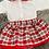 Thumbnail: Red Checked Skirt Set
